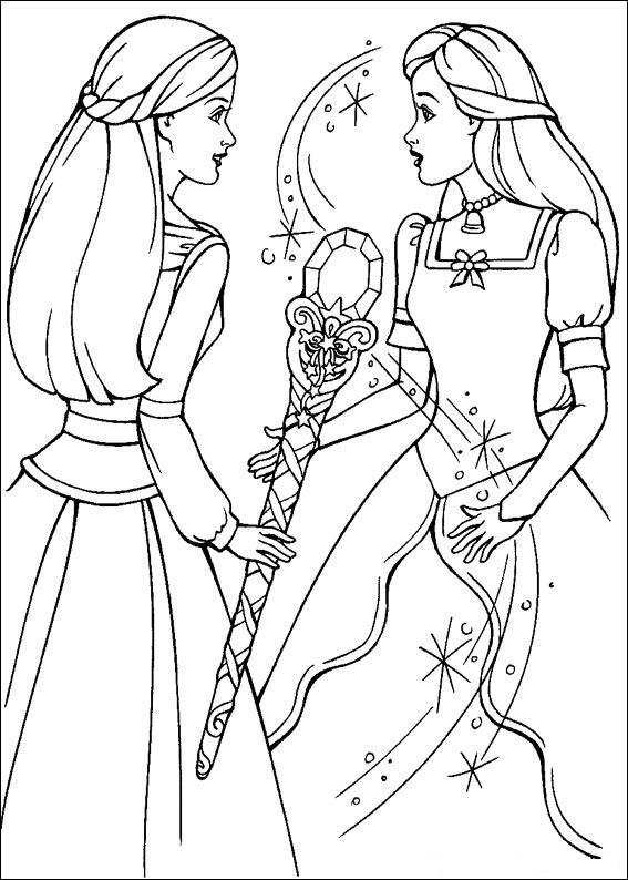Принцесса рапунцель раскраска распечатать